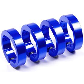 Sixpack reserve klemring aluminium blauw